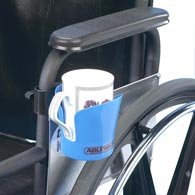 Ableware 706220001/706220003 Wheelchair Plastic Cup Holders by Maddak