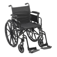 Drive Cruiser X4 Dual Axle Wheelchair w/ Adjustable Detatchable Arms