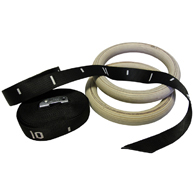 Valor Fitness GRW-1 Wood Gym Rings with Straps